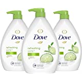 Dove Refreshing Body Wash with Pump Revitalizes and Refreshes Skin Cucumber and Green Tea Effectively Washes Away Bacteria Wh