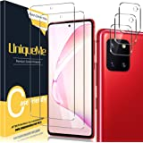 [2+3 Pack] UniqueMe Camera Lens Protector and Screen Protector for Samsung Galaxy Note 10 Lite Tempered Glass [Easy Installat