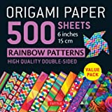 Origami Paper 500 sheets Rainbow Patterns 6 inch (15 cm): Tuttle Origami Paper: High-Quality Double-Sided Origami Sheets Prin