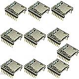 Rasbee 10個 ミニMP3 プレーヤーモジュール DF-Player MP3-TF-16P ミニプレーヤー Arduino DFPlayに対応 オーディオモジュール TFカードモジュール Uディスクモジュール