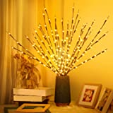 FFNIU730 3 Pack LED Branch Lights Battery Powered Decorative Lights Willow Twig Lighted for Christmas Home Garden Party Weddi