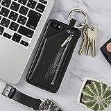 松平商会 iPhone コインケース付きレザーケース 機種:iPhone8/7 ブラック
