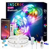 Bluetooth LED Strip Lights 65.6FT - Inscrok LED Light Strips Controlled by Smart Phone APP - Music Sync LED Lights Strip for