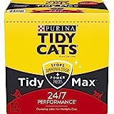 Purina Tidy Cats Clumping Cat Litter, Tidy Max 24/7 Performance Multi Cat Litter - 38 lb. Box