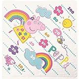 丸眞 湯上げタオル Peppa Pig ペッパピッグ 90×90cm ハッピーペッパ 綿100% ガーゼ&パイル 簡易メモリつき 5755001800