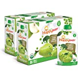 Happy Baby Organic Stage 2 Baby Food Simple Combos Broccoli Pears & Peas, 4 Ounce Pouch (Pack of 16) Resealable Baby Food Pou