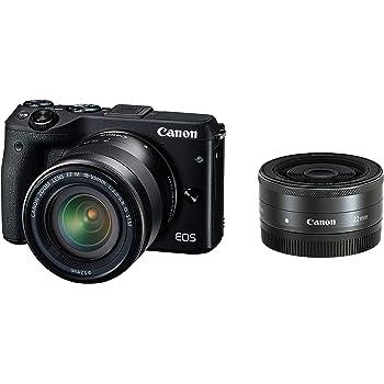 Canon ミラーレス一眼カメラ EOS M3 ダブルレンズキット(ブラック) EF-M18-55mm F3.5-5.6 IS STM EF-M22mm F2 STM 付属 EOSM3BK-WLK