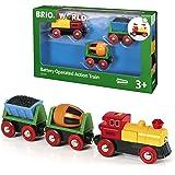 BRIO ( ブリオ ) WORLD バッテリーパワーアクショントレイン [全3ピース] 対象年齢 3歳~ ( 電車のおもちゃ 木のレール 電動 機関車 ) 33319