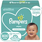 Pampers Baby Diaper Wipes, Hypoallergenic and Unscented, 10X Pop-Top Packs, 800 Count