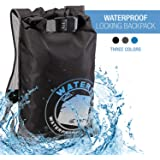 WaterSeals Locking Backpack + Waterproof Bag for Women & Men with Ripstop Material & Anti-Theft Combination Lock to Protect W