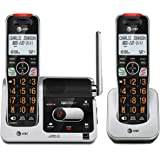 AT&T BL102-2 DECT 6.0 2-Handset Cordless Phone for Home with Answering Machine, Call Blocking, Caller ID Announcer, Audio Ass