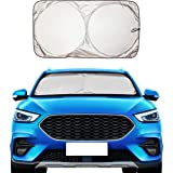 EcoNour Windshield Sun Shade - Blocks UV Rays Sun Visor Protector Sunshade to Keep Your Vehicle Cool and Damage Free | Easy t
