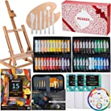 MEEDEN 71-Piece Acrylic Painting Set - Solid Beech Wood Table Easel, 48×22ML Acrylic Paint Set, Canvas Panels, Acrylic Paintb