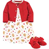Hudson Baby Baby Girl Dress, Cardigan and Shoes