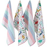 DII Folk Kitchen Textiles, 18x28, Easter Garden 4 Piece