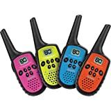 Uniden - UH35-4 - 80 Channel Mini Compact UHF Handheld Radios - Quad Colour Pack