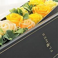 BIO ローズBOXスリム Lサイズ フレグランスソープフラワー ふた付きボックス お祝い 記念日 お見舞い バレンタイ…