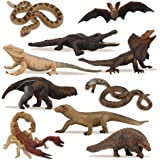 TOYMANY 10PCS Cold-Blooded Animal Figurines Set