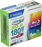 バーベイタムジャパン 三菱ケミカルメディア Verbatim 1回録画用 BD-R VBR130RP10V1 (片面1層…