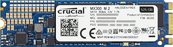 Crucial [Micron製] 内蔵SSD 2.5インチ MX300 525GB ( 3D TLC NAND / M.2 Type / 3年保証 )国内正規品 CT525MX300SSD4/JP