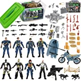 Liberty Imports Police Patrol Special Forces Action Figures Soldiers Vehicles & Accessories - Military Toy Combat Mega Playse