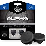 KontrolFreek Alpha Performance Thumbsticks for PlayStation 4 (PS4) and PlayStation 5 (PS5) Controller | 2 Low-Rise Concave |