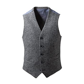 Harris Tweed Waistcoat: Light Grey