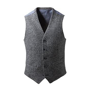 Harris Tweed Waistcoat: Light Grey