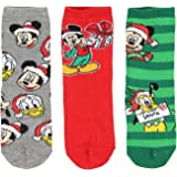 Disney Mickey Mouse and Friends Kids Christmas Fun! 3 Pair Crew Socks Gift Set