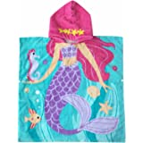 Hooded Towel for Girls 1 to 6 Years Old Kids and Toddlers 100% Premium Cotton Ultra Soft Super Absorbent Extra Large 48 x 24