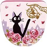 魔女の宅急便 ジジとデート トイレ ふたカバー ピンク 洗浄便座用 37177