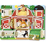 "Melissa & Doug 4592 Hide and Seek Farm Wooden Activity Board with Barnyard Animal Magnets, 12.25"" x 9.25"""