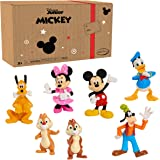 Mickey Mouse 7-Piece Figure Set, Toys for 3 Year Old Boys, Amazon Exclusive, by Just Play