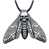 HAQUIL Insect Jewelry Skull Death's Head Moth Necklace for Men for Women