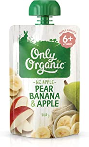 Only Organic Pear Banana & Apple 6+ Months -120g