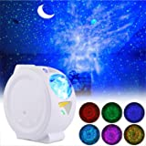 LED Night Light Projector, ALED LIGHT 3 in 1 Star Projector Light Decorative Ceiling Moon and Water Wave Children's Night Lig