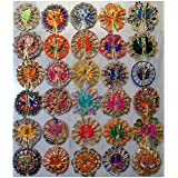 Style OK Set of 10 Ladoo Gopal Poshak Bal Gopal Dresses Kanha Ji Dress Assorted Color and Design for Size 0 Kanha Ji for Janm