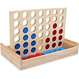 LanYo 四目並べ 立体パズル 木製 折りたたみ式 ボード 対面 ゲーム パズルゲーム 旅行ゲーム