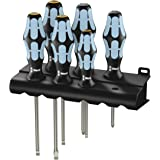 Wera 3334/3355/6 Screwdriver Set with Stainless and Rack 6 Pieces, 6 Pieces