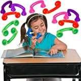 4E's Novelty Reading Phones Whisper, Bulk Pack of 12 Read to Your Self Phones, Great for Speech Therapy and Auditory Feedback