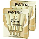 Pantene Hair Mask Miracle Rescue Shots, Intensive Repair Treatment for Damaged Hair, 4 count 0.5 oz Each, Twin Pack