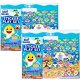 Baby Shark Sticker Play Set Bundle Pack by Horizon Group USA, 2 Count, Over 200 Reusable Baby Shark Stickers, 2 Double-Sided