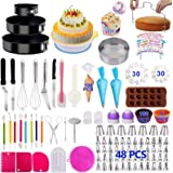 Cake Decorating Supplies Cake Decorating Kits 466 PCS Baking Set with Springform Cake Pans Set,Cake Rotating Turntable,Cake D