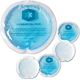 Round Reusable Gel Ice Packs With Cloth Backing ? Great For: Wisdom Teeth Breastfeeding Tired Eyes Kids Injuries Headaches Si
