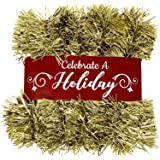 15 Foot Tinsel Garland for Christmas Decorations - Non-Lit Holiday Decor for Outdoor or Indoor Use - Premium Quality Home Gar