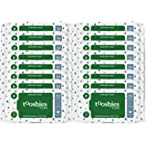 Tooshies by TOM Pure Water Wipes Biodegradable, Compostable & Fragrance Free, 16 Pack Water 16 count, Pack of 1120