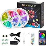 LED Strips Lights|Led Lights 10m | Led Strip Lights with Remote 10m Music Sync | 10m led Strip Lights for Bedroom