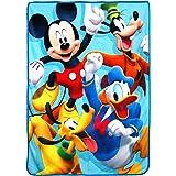 "Disney's Mickey's Roadster Racers, ""4 Ever"" Micro Raschel Throw Blanket, 46"" x 60"", Multi Color"