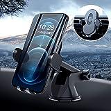 Xingmeng qi 車載 ワイヤレス充電器 車載ホルダー magsafe 車載 識別機能搭載 100mAh電池 自動開閉 対応 iPhone 12/mini/pro/pro max/ se2/11/X/XR/XS/XSMAX/Samsung Ga
