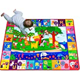 teytoy Baby Cotton Play Mat, Playmat Baby Crawling Mat for Floor Baby Mat Large Super Soft Extra Thick (0.6cm), Plush Surface